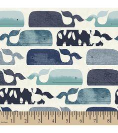 Nursery Fabric-Baby Whale Flannel