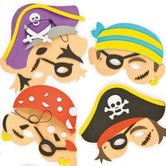 Pirate Foam Mask Craft Kit for Kids