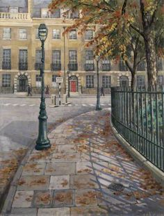 October in Bedford Square - George E.R. Salter (1950s)