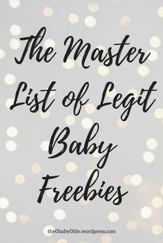 The Master List of Legit Baby Freebies – The Baby Life Get Free Stuff, Free Baby Stuff, Babies Stuff, Free Kids Stuff, Free Baby Items, Baby Freebies, Pregnancy Freebies, Free Pregnancy Stuff, Pregnancy Tips