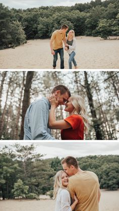 Michigan Engagment Photos - Woodsy Sand Dune photos - what to wear for engagement photos, couple photos, perfect engagement photo ideas - Engagement Couple, Engagement Session, Engagement Photos, Light Jeans, Dark Jeans, Couple Shoot, Dune, Light In The Dark, Michigan