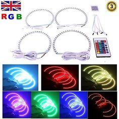 #Multi-color rgb led #angel eyes #headlight halo ring for bmw e39 e46 e36 e38 3 5, View more on the LINK: http://www.zeppy.io/product/gb/2/281773269300/
