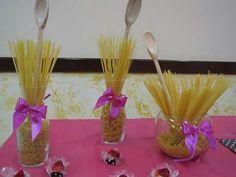 Lindo decoração com macarrão