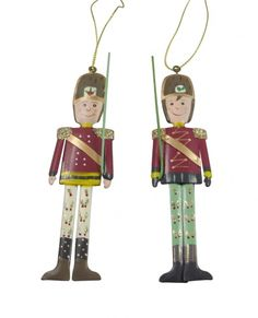 Gisela Graham Christmas Tree Decorations - Soldiers