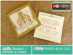 Invitación die-cut de Candelabro - Despedida de soltera… Podemos personalizarla con cualquier tema! • Chandelier die-cut invitation - Bachelorette party... We can personalize it with any party theme!
