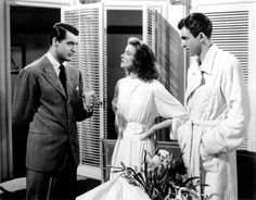 the philadelphia story. cary grant + katherine hepburn + james stewart.