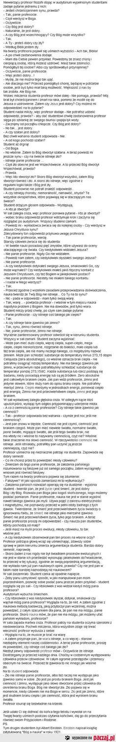 Bóg a nauka | paczaj.pl