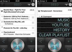 Seedio- app that allows multiple apple products (ipad and iphone) to play music in sync.  cool!