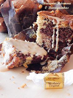 Brownie Mármore com Cobertura de Caramelo -