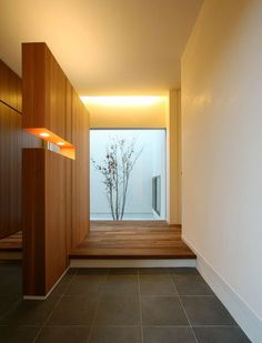 I like the wood divider. it's not all the way to the ceiling. Not sure about the lights in it. Japanese Home Design, Japanese Interior, Japanese House, Bedroom Minimalist, Minimalist Interior, Minimalist Home, Japanese Architecture, Interior Architecture, Interior Design