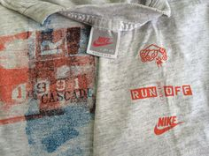 NIKE Tshirt 1991 Vintage Original/ CASCADE Run by sweetVTGtshirt