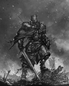 Knight, Çağlayan Kaya Göksoy on ArtStation at https://www.artstation.com/artwork/zn9gD