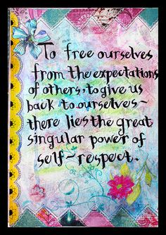 Self-Respect by fluteforthought, via Flickr