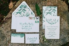 Paper & Calligraphy: Antiquaria  | Floral: Botanique | Photo: Jess Hunter feat. on Green Wedding Shoes