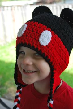 Mickey Mouse Inspired Crochet Hat by SweetSomethingsbyAsh on Etsy