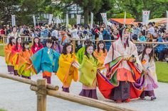 https://flic.kr/p/TYWbcS | Aoi Matsuri at Kamigamo Shrine in Kyoto. | NEXT WEEK MONDAY THE 15TH HAPPENING IN KYOTO! The 60th Saiō-Dai Lady Arriving at Kamigamo Shrine. In 2015, the role of the Saiō-Dai Lady (斎王代) is presented by miss Shirai Yū Tasuku (白井 優佐). She is dressed in the traditional style of the Heian court.
