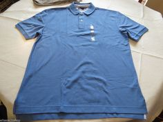 Mens Tommy Hilfiger Polo shirt S small SM solid NEW 7848707 Summer Blue 603 #TommyHilfiger #polo