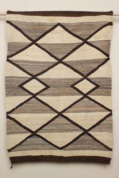 Vintage Stripes & Diamonds Navajo Rug x - by Beam & Anchor Navajo Art, Navajo Rugs, Native American Rugs, Native American Jewelry, Southwest Rugs, Navajo Weaving, Car Upholstery, Wool Art, Carpet Design