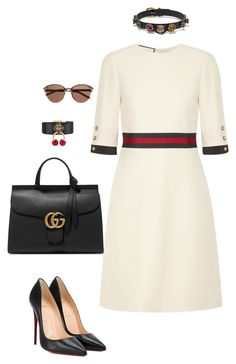 Gucci Look by alexachannel on Polyvore featuring polyvore fashion style Gucci Christian Louboutin Witchery clothing