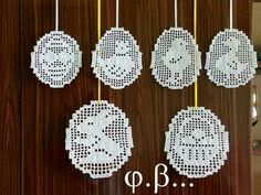 Crochet Doily Diagram, Filet Crochet Charts, Crochet Cross, Crochet Placemats, Crochet Doilies, Easter Crochet Patterns, Fillet Crochet, Holiday Ornaments, Easter Baskets