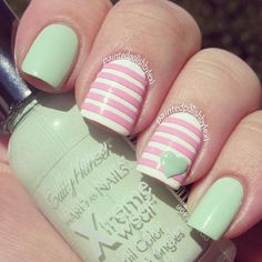 paintedpolishbylexi: Nailart Designed w/ Sally Hansen Xtreme Wear Nail Color!