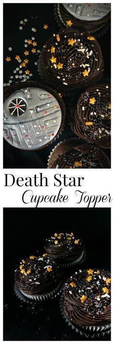 Tutorial and video of a death star fondant cupcake topper for star wars.  May the 4th be with you by Sweet Jenny Belle