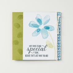Garden In Bloom is a lovely new stamp set with flowers that have a hand painted look.