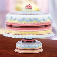Earthenware - Gorham Pat a Cake Pedestal Plate at Lenox.com