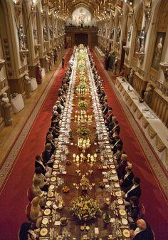 Pres State Banquet Windsor Castle