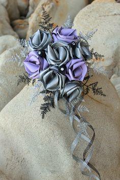 Flaxation for flax wedding bouquets & flowers Lavender Bouquet, Flower Bouquet Wedding, Bridal Bouquets, Deep Silver, Silver Fern, Flax Weaving, Flax Flowers, Rose Crafts, Bridal Elegance