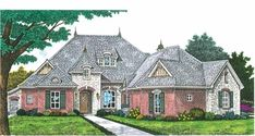 **Eplans European House Plan - Home of Your Dreams - 2205 Square Feet and 3 Bedrooms from Eplans - House Plan Code HWEPL68936