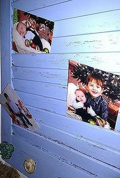 old cabinet shutter photo display and jewelery holder, crafts, repurposing upcycling