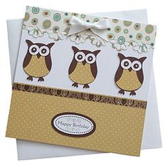 two-step owl cards.