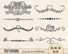 Tafel Text Divider ClipArt / / Plus Photoshop von thePENandBRUSH