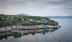Tobermory is the main town on the island of Mull, in the Inner Hebrides. The picture-postcard port with its brightly coloured harbour-front buildings was the setting of children's TV show Balamory.
