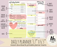 Islamic DAILY PLANNER by Kecilmamil Personal Size by Kecilmamil