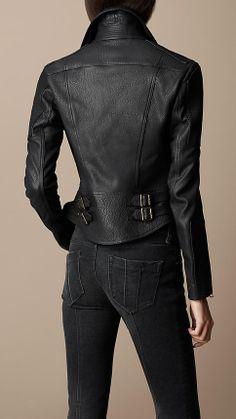 Lambskin Biker Jacket | Burberry who doesn't like a jacket with buckles