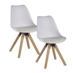 Lot de 6 chaises blanches scandinaves Helsinki