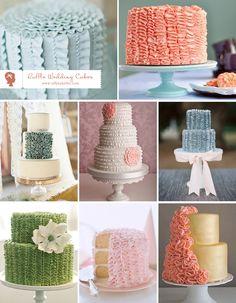 ruffle wedding cakes ♥