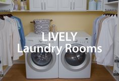 Organize your laundry room with dozens of tips from Organized Living. #organizedliving #organizedlaundryroom