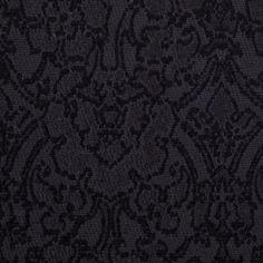 Black Wool-Blend Floral Brocade Fabric by the Yard   Mood Fabrics