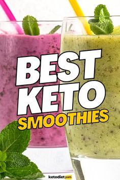 Quick and easy keto smoothie recipes that are loaded with vitamins and nutrients. Boost your metabolism, get into ketosis and lose weight! Best Keto Breakfast, Keto Breakfast Smoothie, Keto Smoothie Recipes, Smoothie Ingredients, Low Crab Meals, Sugar Free Whipped Cream, Post Workout Snacks, Ketogenic Diet For Beginners, Keto Diet Plan