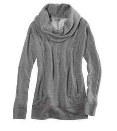 Aerie Sparkle Cowl Neck Sweatshirt