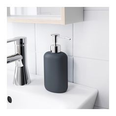 EKOLN Soap dispenser - dark gray - IKEA