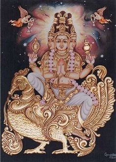 Chapter 3: Lord Brahmā, the original being of this universe, who is extremely powerful, sprinkled transcendental, infallible, spiritual water from his kamaṇḍalu upon Hiraṇyakaśipu's body, which had been eaten away by ants and moths. Thus he enlivened Hiraṇyakaśipu.
