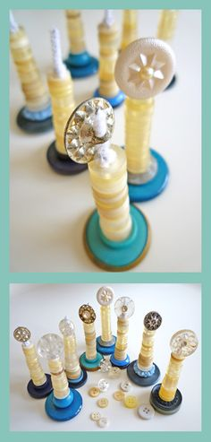 Candle, add menorah charm to bottom