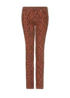MANGO - Jeans slim estampado étnico