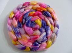 SW Merino Tencel Wool Top Roving  Spinning / by TheWackyWindmill, $19.00