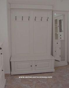garderobe mit bank dielenm bel wandpaneel mit bank weiss. Black Bedroom Furniture Sets. Home Design Ideas