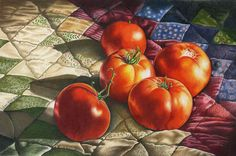 """""""From My Garden"""" colored pencil drawing by Brenda Bruckner Colored Pencil Artwork, Pencil Painting, Coloured Pencils, Color Pencil Art, Colouring Techniques, Art Techniques, Still Life Fruit, Still Life Drawing, Paintings I Love"""